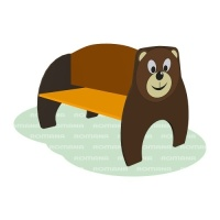 Скамья детская с рисунком «Медведь»