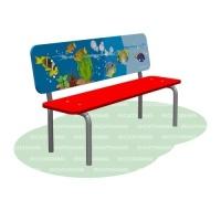 Скамья детская с рисунком «Море»