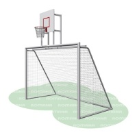 Ворота с баскетбольным щитом (сетка в комплекте)