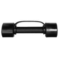 MB-FitB-1 Гантель обрезиненная с обрезиненной ручкой - чёрная, 1 кг, МВ Barbell