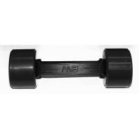 MB-FitB-2,5 Гантель обрезиненная с обрезиненной ручкой - чёрная, 2,5 кг, МВ Barbell