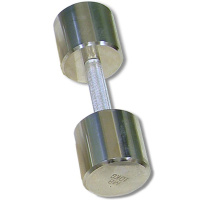 MB-FitM-10 Гантель хромированная, 10 кг, МВ Barbell