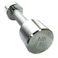 MB-FitM-2 Гантель хромированная, 2 кг, МВ Barbell