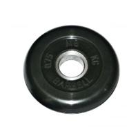 MB-PltB26-0,75 Диск обрезиненный, чёрного цвета, 26 мм, 0,75 кг, МВ Barbell