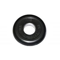 MB-PltB31-0,5 Диск обрезиненный, чёрного цвета, 31 мм, 0,5 кг, МВ Barbell