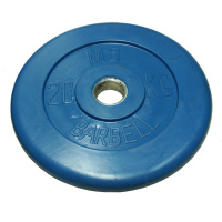 MB-PltC26-20 Диск обрезиненный, синий, 26 мм, 20 кг, МВ Barbell