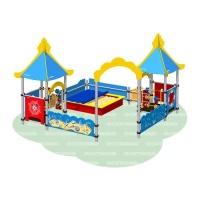 Песочный дворик «Море» (песочница с тентом)