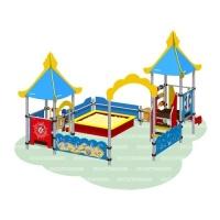 Песочный дворик «Море» с горкой
