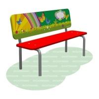Скамья детская с рисунком «Сказка»