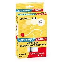 Мячи Start Line Standart 2* (6шт. белые)