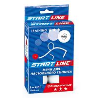 Мячи Start Line Training 3* (6 шт. белые)